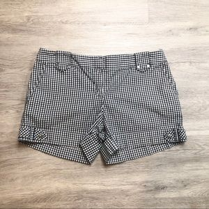 Loft gingham patterned shorts